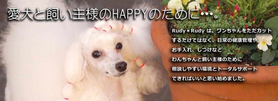 出張トリミングサービス Rudy*Rudy
